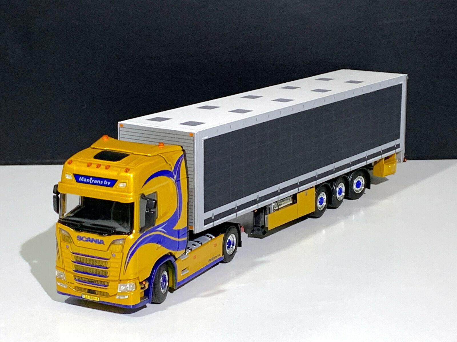 SCANIA S HIGHLINE CS20H 4x2 BOX TRAILER  MANTRANS WSI TRUCK MODELS,01-2768