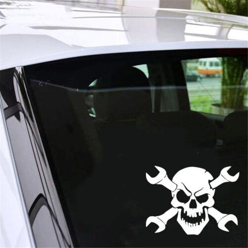 Skull Skeleton Wrenches Truck Car Window Bumper Vinyl Decal Auto Laptop Sticker