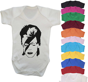 Bowie Music Inspired Baby Vest Babygrow Baby Shower Music fan Baby Gifts Cute