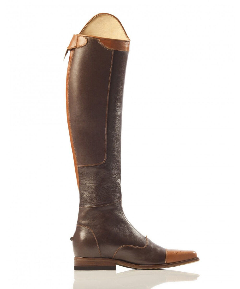 Two Tone Chocolate With Cognac Top Horse Riding Hunter Jumper Jumper Hunter Dress Stiefel UK 3-12 e14998
