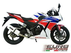 Honda CBR 300R GPR Exhaust Systems Albus White Silencer Road Legal