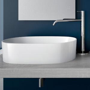 Lavabo appoggio bacinella design 56 5x35 5 lavandino for Lavandino design