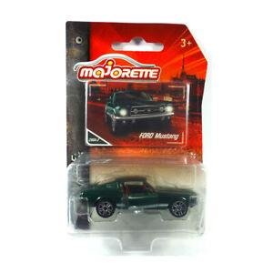 Majorette-212052010-Ford-Mustang-gruen-weiss-Vintage-1-64-Modellauto-NEU