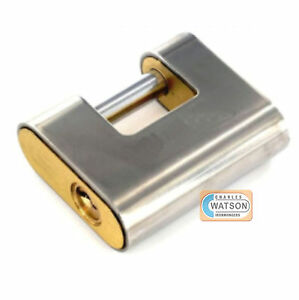 ARMOURED SHUTTER PADLOCK 60mm 80mm 90mm Heavy Duty Security Lock Hardened