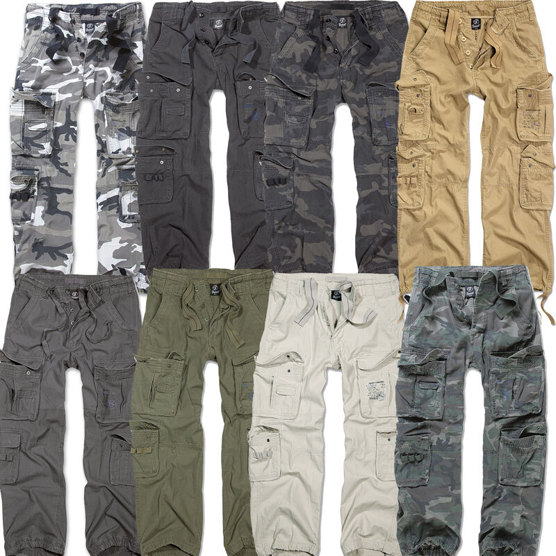 Brandit Pure Vintage Trousers Hose Cargo Army Militär Armee Bundeswehr Taschen