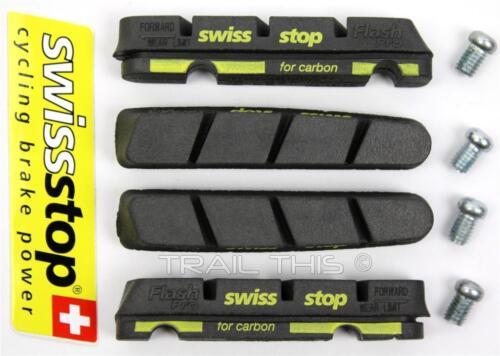 2019 SwissStop Black Prince Flash Pro Carbon Rim Brake Pads fits Shimano /& SRAM