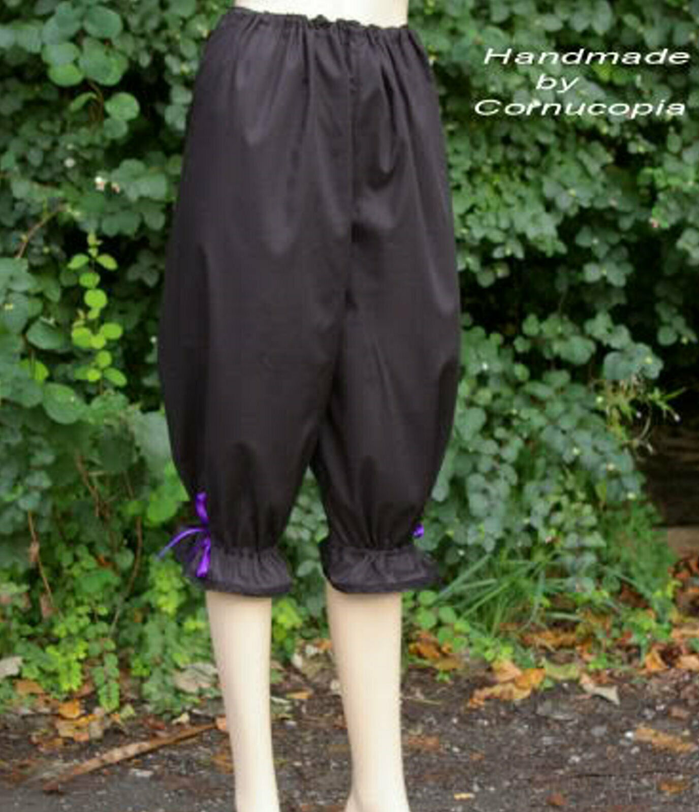 Ladies Victorian / Edwardian bloomers costume fancy dress black