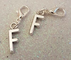 1-x-F-Letter-Initial-Personalised-Silver-Plated-Clip-On-Charm-Pendant-Gift-Name