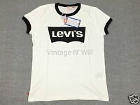 Levis Vintage Lvc Mens 1970s White/black Bat Wing Logo Ringer T-shirt Orange Tab