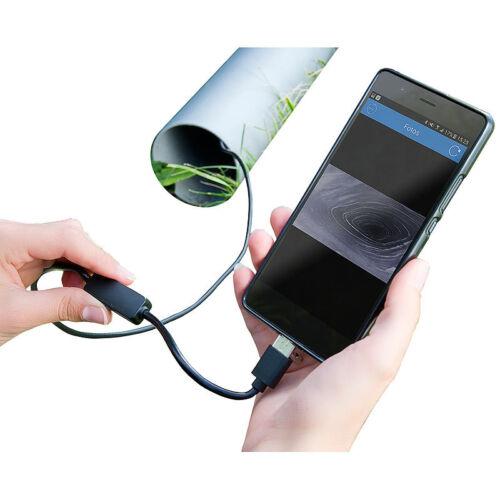 2 m IP67 Somikon USB-HD-Endoskop-Kamera für PC und OTG-Android-Smartphone