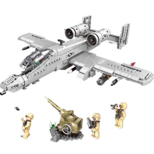 Thunderbolt II A10 Attack Aircraft Building Blocks Toy Warthog Bricks 961pieces