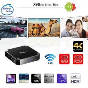 X96 mini 4K Streamer Movie TV Box Android 7 1 Kodi 18 0 1G+8G 4-Core