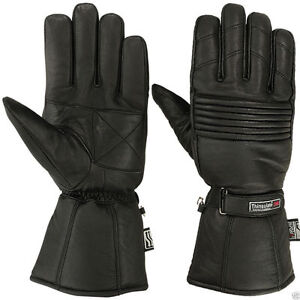 Mens-Winter-Genuine-Leather-Motorcycle-Motorbike-3M-Thermal-Thinsulate-Gloves