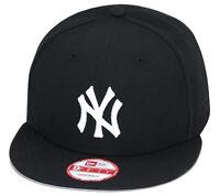 Era York Yankees Snapback Hat All Black/white ny/grey Bottom