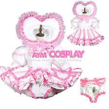 Romper Adult Sissy baby maid Pvc Vinyl dress lockable Cd/Tv Tailor-made[G3704]