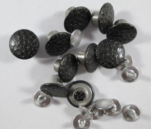 Jeans Knopf 10 stück mit Niete  schwarz   14  mm groß    #1331#