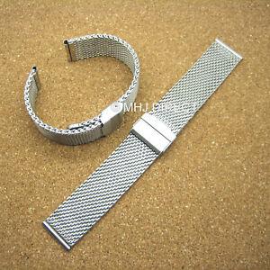 Quality-18mm-20mm-22mm-Heavy-Stainless-Steel-Mesh-Metal-Watch-Bracelet-Strap