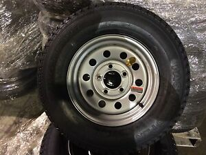 175 80d13 Trailer Tire With 13 Silver Mod Wheel 13 Inch Boat
