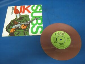 Record 7 Single Uk Subs Warhead Brown Vinyl Ebay
