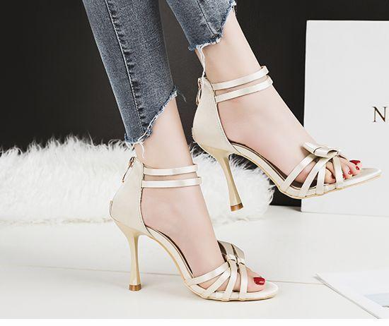 Sandale stiletto eleganti  9.5 cm panna simil pelle simil pelle eleganti 8913