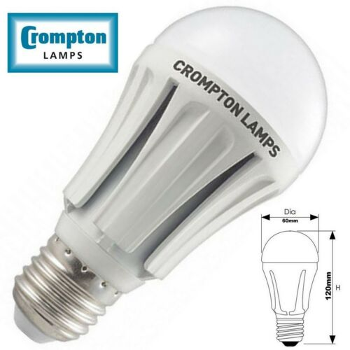 Crompton 8w LED GLS Opal Frosted Day White Light Bulb ES E27 6000K DAYLIGHT 860