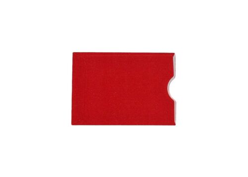 """3-1//8/""""x2-1//4/"""" 50 Red Holiday Gift Card Holder Protector Thumb-Cut,3.125x2.25"""