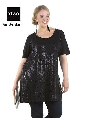 X-Two Ribelle plus size black sequin plus size tunic, SALE from 69 to 29 |  eBay