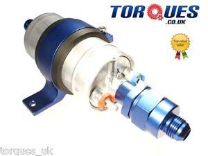Bosch-044-Fuel-Pump-Billet-Cradle-AN-6-Check-Valve-Output-AN-6-Input-Adapter