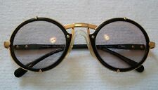 9ef7a87088 CAZAL 90s AUTHENTIC ICONIC SUNGLASSES 644 GOLD BLACK 53MM ROUND FRAMES ONLY  958