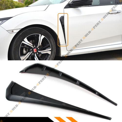 FOR 2016-2018 HONDA CIVIC TYPE-R STYLE FRONT FENDER SIDE AIR VENTS COVERS TRIM