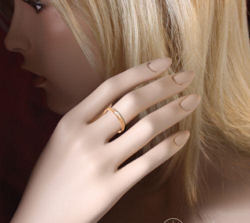 Amulett Ring russisches Rose Gold 585 Schutztrauring Goldehering Спаси и сохрани