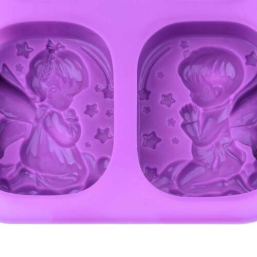 3D Angel Silicone Mold Cake Decor DIY Fondant Sugarcraft Chocolate Baking Mould