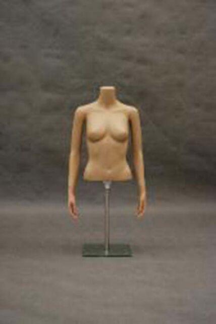 Half body plastic with arm Manequin Mannequin Manikin Torso Form #PS-FT1+Base
