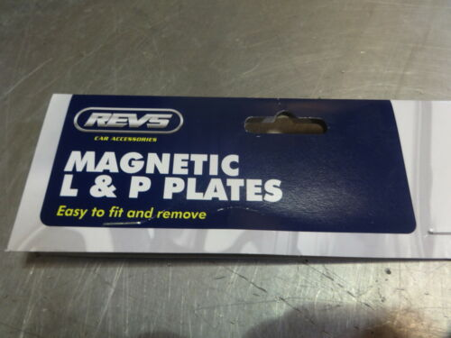 2x Magnetic Provisional P Plates Driver Road Legal UK Spec