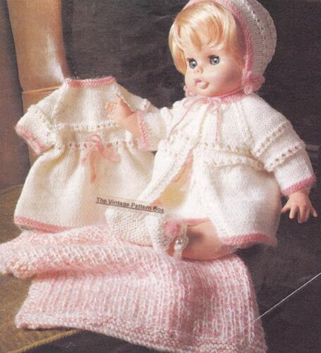 "8ply or DK COPY doll knitting pattern DOLL SET 18/"" /& 20/"" dolls"