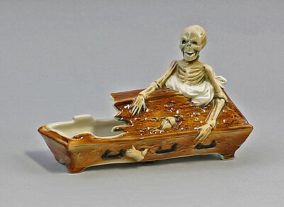 Schale Skelett Im Sarg Schälchen Ens/ernst Bohne 16,5x11,5cm 9941121