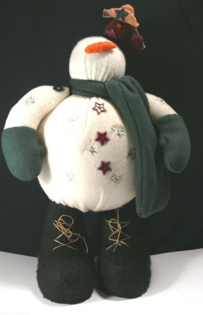 Bigfoot Snowman Standing Doll Center Street cowboy bird 1999 handmade winter