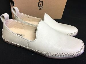 431dff4c623 Details about UGG Australia Delfina Wool Lined Leather Slippers 1014871  Canvas Women's Shoes