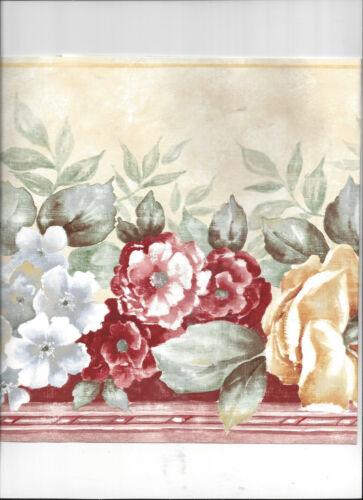 WALLPAPER BORDER FLORAL FLOWER ROSE ROSES NEW ARRIVAL CLASSIC