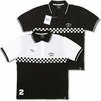 Hawkins And Joseph Rudeboy Skin Ska Checkerboard Polo Shirt Black And White