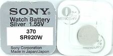 SONY 370 SR920W V370 370 620 Z 280-51 SB-BN SR920W WATCH BATTERY