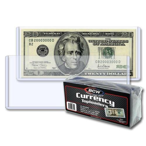 25 BCW Regular Small Modern Currency Bill Rigid Topload Holders top load
