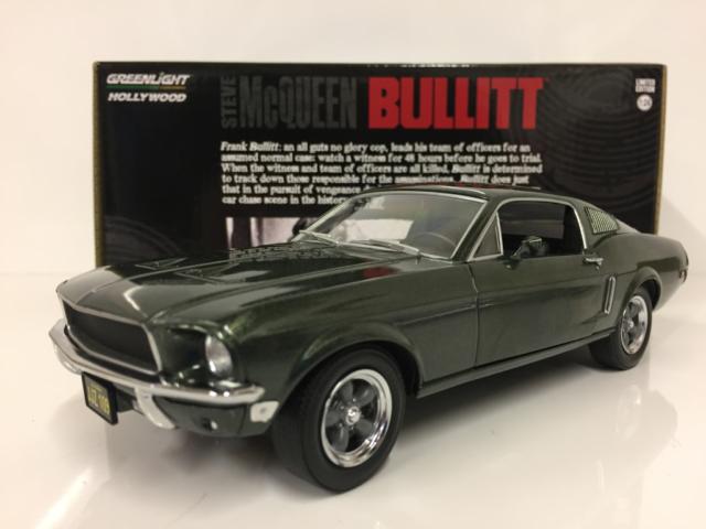 Steve McQueen Bullitt 1968 Ford Mustang GT 1:24 Scale Greenlight