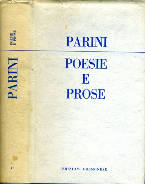 Poesie E Prose. . 1959. RISTAMPA.
