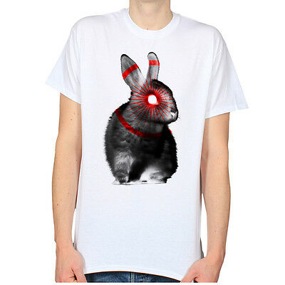 RABBIT EYE PSYCHEDELIC STREET 666 BUNNY GOTHIC CULT HIPSTER MENS T-SHIRT TEE