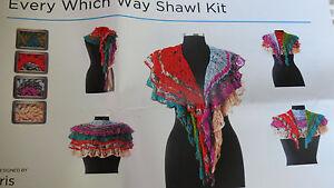 "1 Artyarns ""EVERY WHICH WAY"" Shawl Knit Kit in Firestorm"