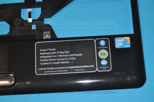P Button BLK Speakers TOSHIBA Satellite L505 L505D Laptop PALMREST Touchpad