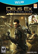 Deus Ex Human Revolution Director's Cut  Nintendo Wii U Brand New and Sealed