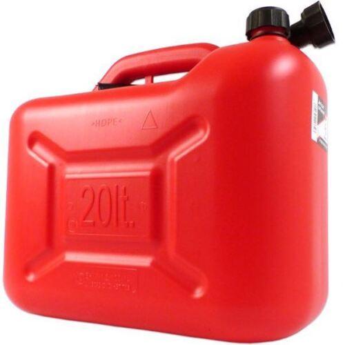 Jerrican pour transport essence et gasoil 20 litres avec bec verseur