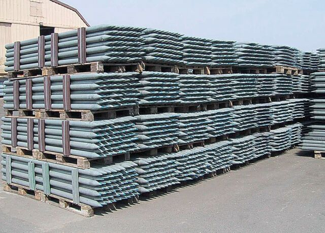 Recyclingpfähle 50 Stück Zaunpfähle Recyclingpfahl Zaunpfahl grau *TOP QUALITÄT*